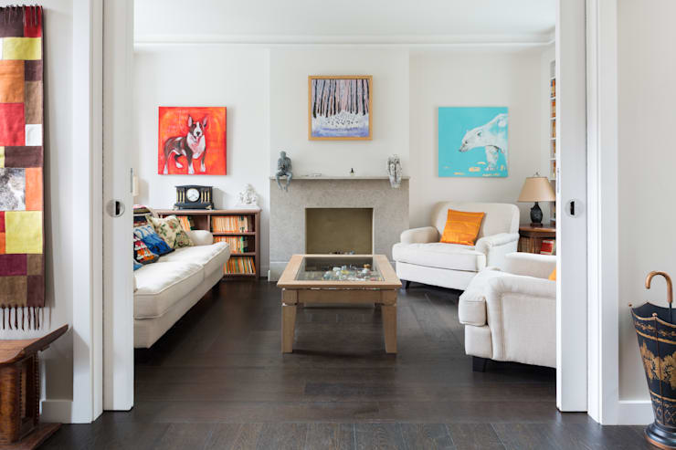 Green Retrofit, Lambourn Road:  Living room by Granit Architects