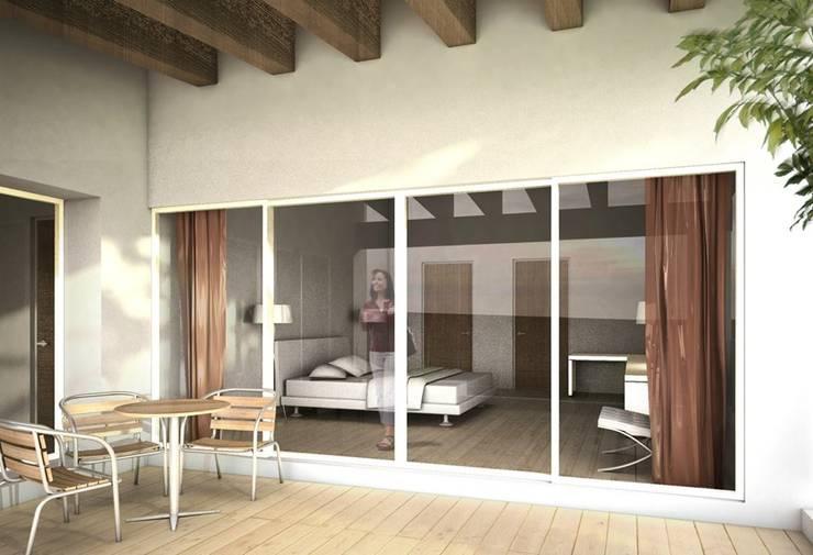 Amanali I: Terrazas de estilo  por REA + m3 Taller de Arquitectura