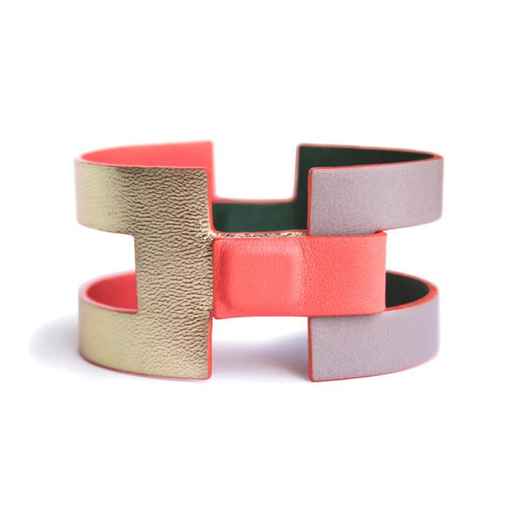 """""""Juliette"""" - Bracelet en cuir reversible et modulable: Art de style  par CAMILLE ROUSSEL"""