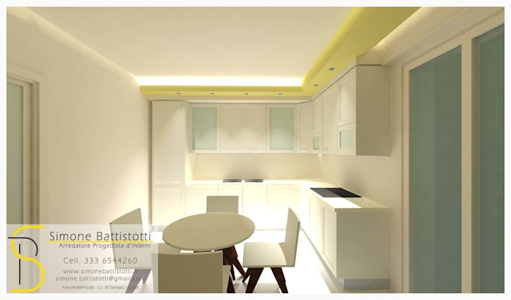 Ristrutturazione Appartamento - Caselle di Selvazzano (PD): Cucina in stile  di Simone Battistotti - SB design,