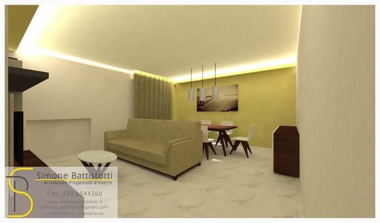 Ristrutturazione Appartamento – Caselle di Selvazzano (PD): Soggiorno in stile  di Simone Battistotti - SB design,