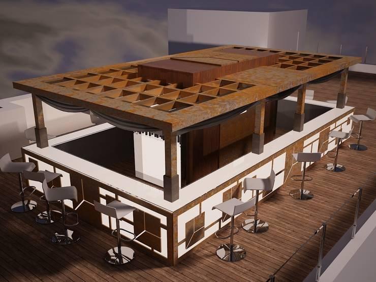 "Diseño terraza ""Club Financiero Génova"":  de estilo  de IPUNTO INTERIORISMO"