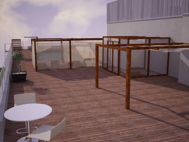 Diseño terraza <q>Club Financiero Génova</q>:  de estilo  de IPUNTO INTERIORISMO