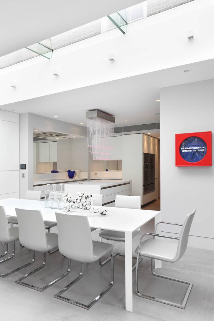 Hamilton Terrace:  Dining room by KSR Architects
