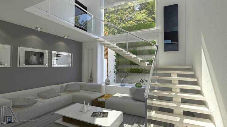 Sala : Salas de estilo  por arquitecto9.com