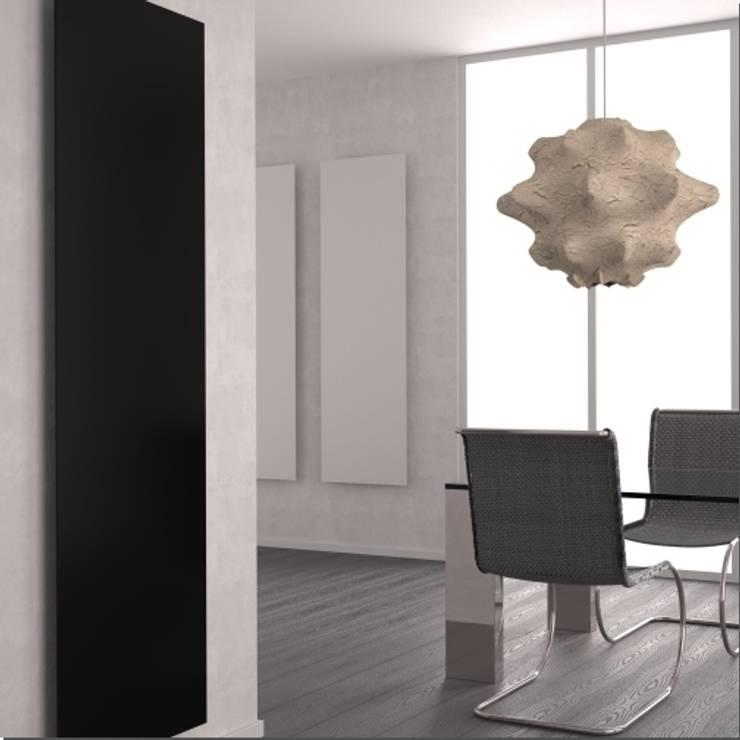RADIATORE DI DESIGN YIN: Bagno in stile  di K8 RADIATORI DI DESIGN/ Design Radiators / Designheizkörper/ Radiateur design