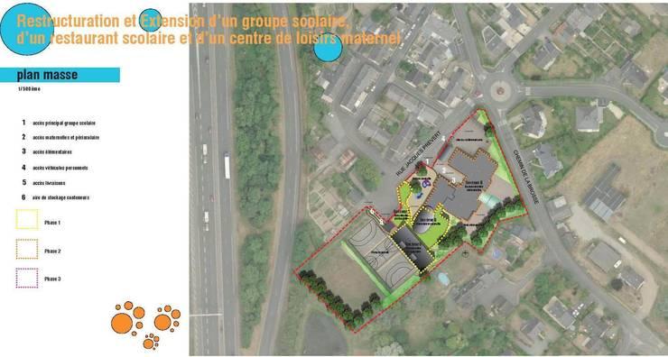 plan masse du projet: Ecoles de style  par GOA