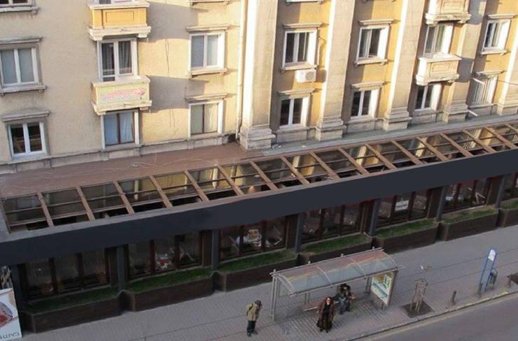 Giardino per il Bar/Cafee: Gastronomia in stile  di Studio d'arte e architettura Ana D'Apuzzo