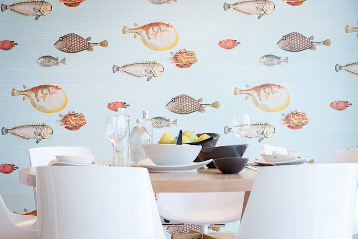 Proyecto decoración en Getaria (País Vasco): Comedores de estilo  de Urbana Interiorismo