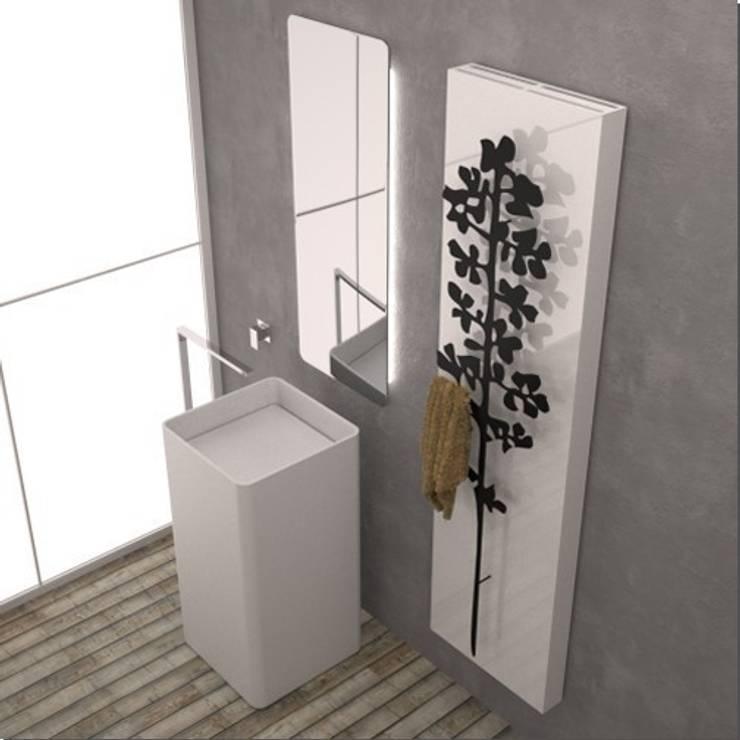 RADIATORE DI DESIGN POWER NATURE RIBES: Bagno in stile  di K8 RADIATORI DI DESIGN/ Design Radiators / Designheizkörper/ Radiateur design