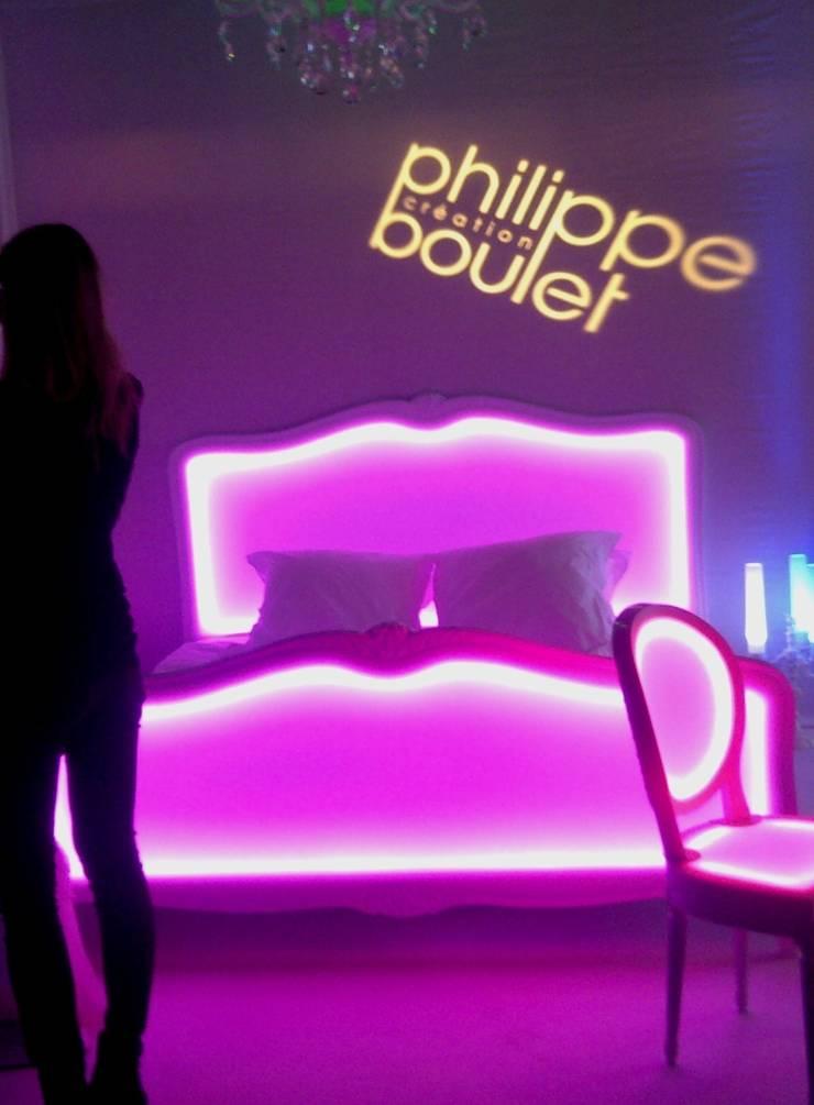 Lit lumineux Poesy: Chambre de style  par Philippe Boulet