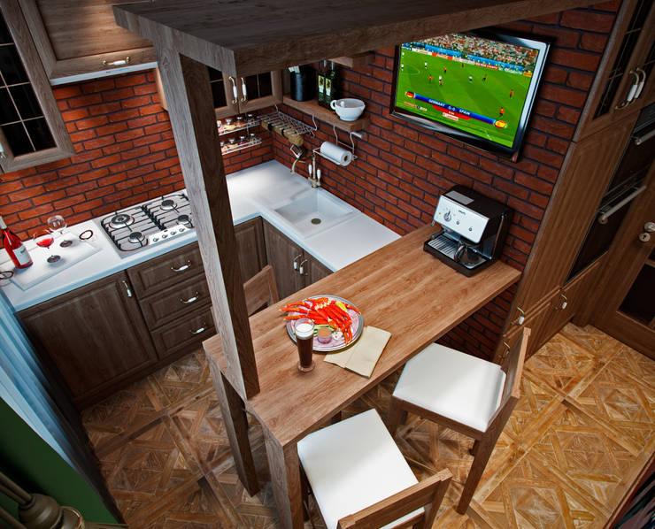 Квартира в духе Шерлока Холмса: Кухни в . Автор – Shop of the interiors, design studio, Кантри
