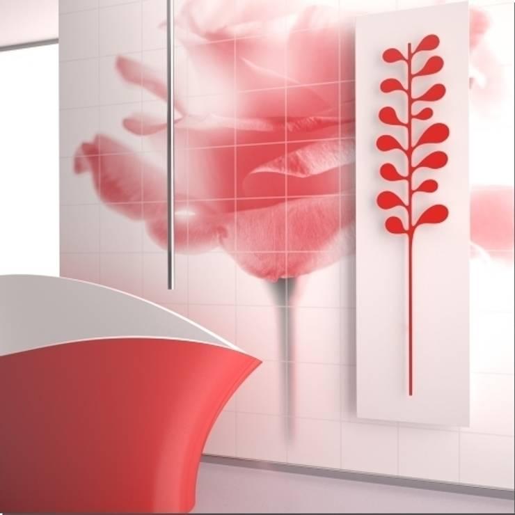 RADIATORI DI DESIGN YIN CAMELIA: Bagno in stile  di K8 RADIATORI DI DESIGN/ Design Radiators / Designheizkörper/ Radiateur design,