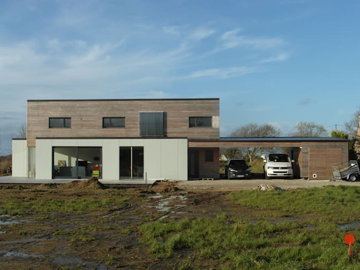 Quelques réalisations  de maisons bioclimatiques dessinées ces dernières années: Maisons de style  par GUENNOC Soizic