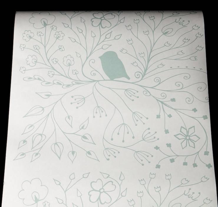 Green Bird Full:  Walls & flooring by Beth Victoria