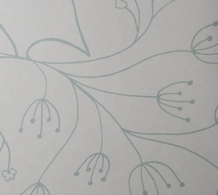 Green Bird Outline:  Walls & flooring by Beth Victoria
