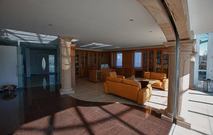 Modern living room by Wieland Naturstein GmbH Modern