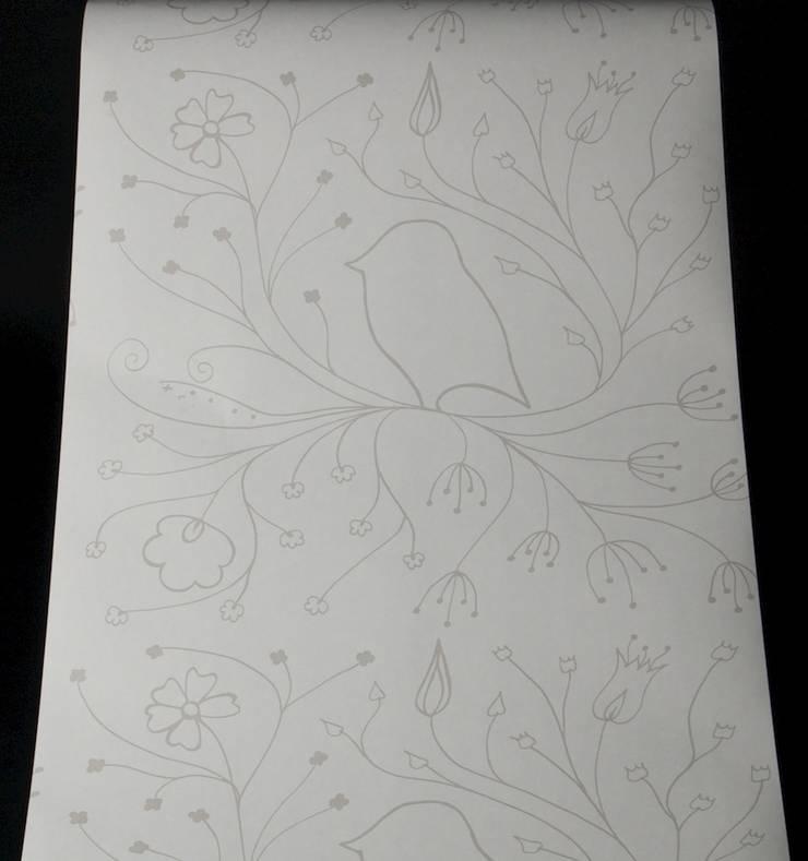 Grey Bird Outline:  Walls & flooring by Beth Victoria