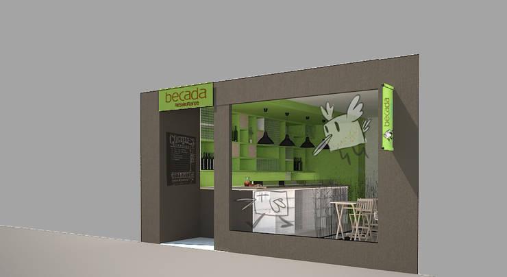 PROPUESTA DE FACHADA: Locales gastronómicos de estilo  de ARQit estudio