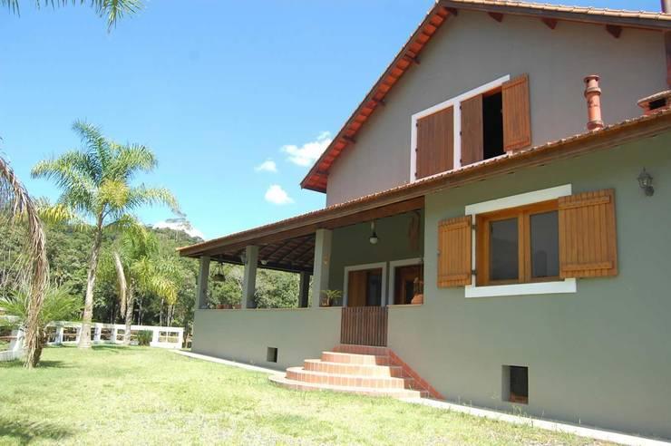 Projeto casa de campo: Casas  por arquiteto,Rústico