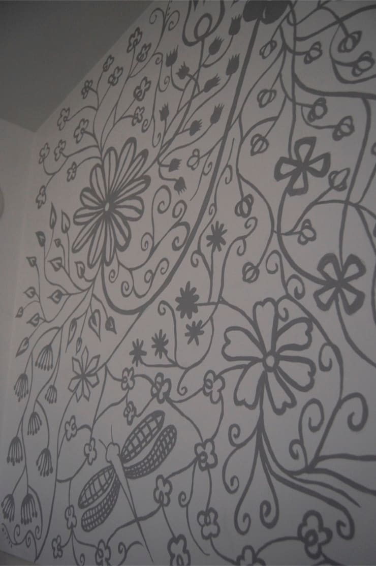 Hampstead House Wall Mural Project:  Walls by Beth Victoria