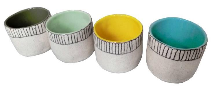 "gobelets ""she's like a rainbow: Cuisine de style  par sabine orlandini design céramique"