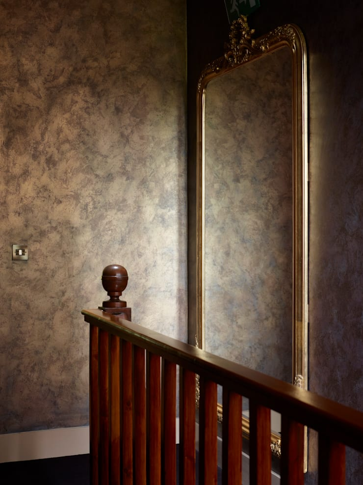 Dramatic Metallic Mottle Wall Finish:  Hotels by Carte Blanche Decorative Painters