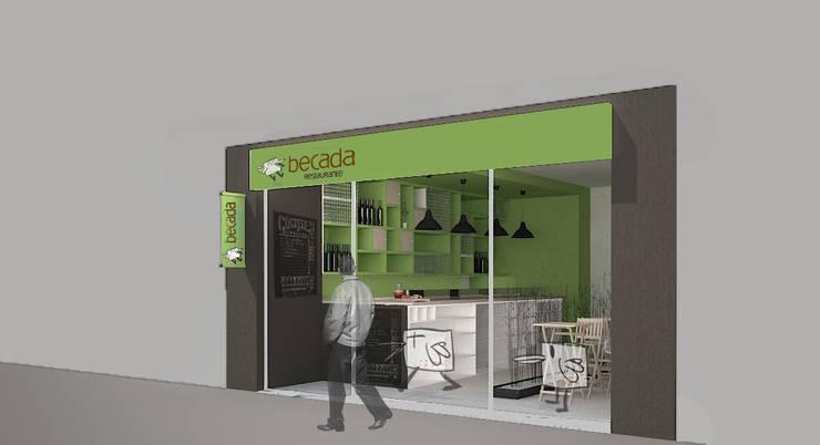 Proyecto Ganador para Restaurante Take - Away : Locales gastronómicos de estilo  de ARQit estudio