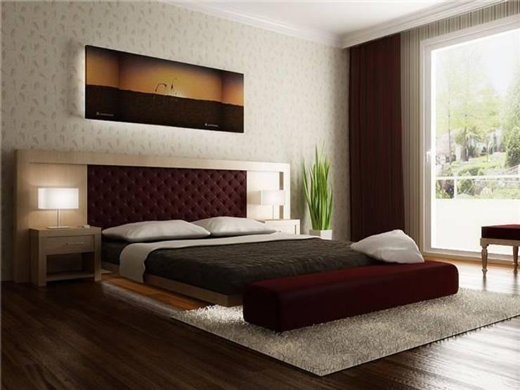 levent tekin iç mimarlık – RÖNESANS KONUTLARI:  tarz Yatak Odası