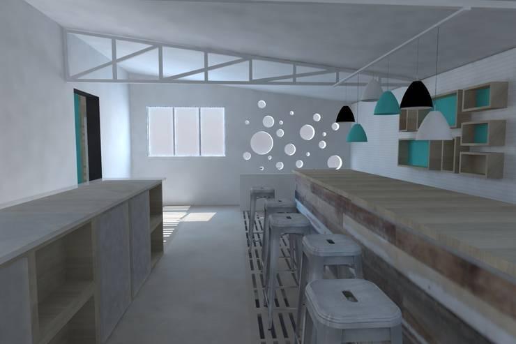 Propuesta interiorismo Cafetería: Locales gastronómicos de estilo  de ARQit estudio