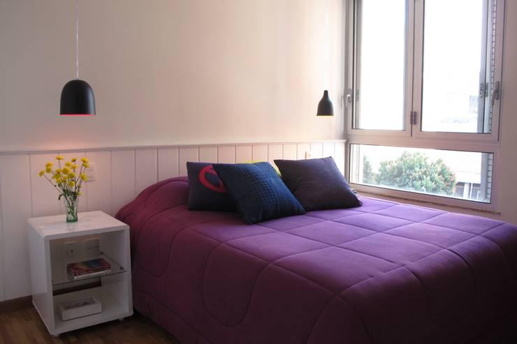 Apartamento Visconde da Luz: Quartos  por Rachel Nakata Arquitetura