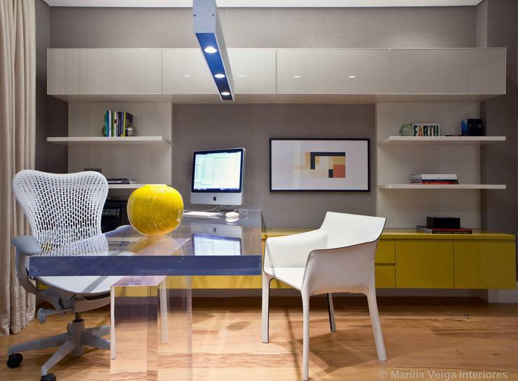 Home Office: Escritórios  por Marilia Veiga Interiores
