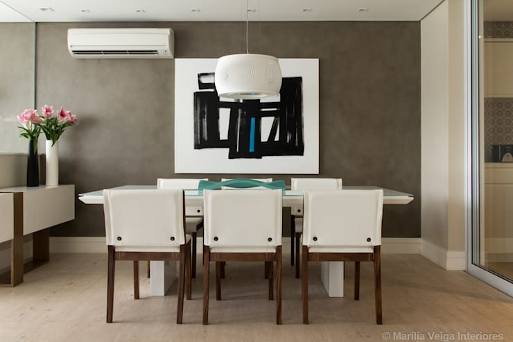 Jantar: Salas de jantar modernas por Marilia Veiga Interiores