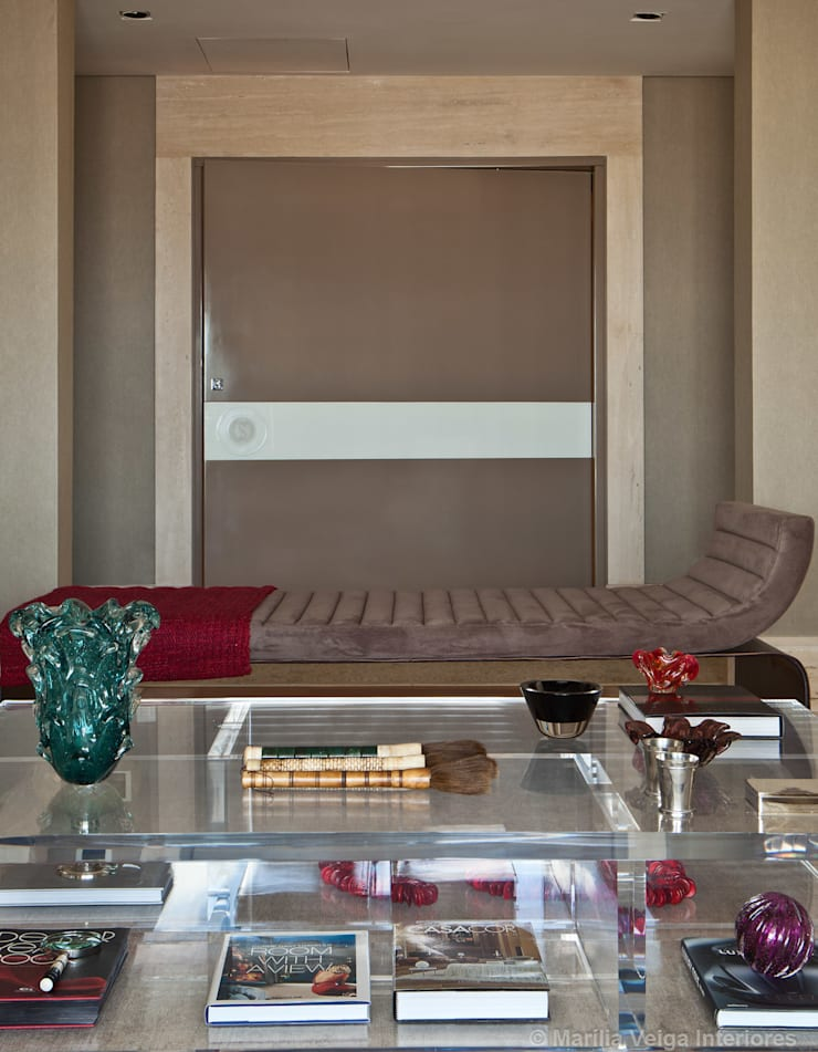 Living: Salas de estar  por Marilia Veiga Interiores