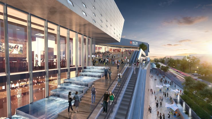 The Heart of Yiwu, An 'Urban Living' Plaza by Aedas:  Shopping Centres by Aedas
