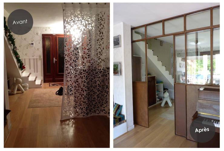 Création d'une verrière d'intérieur à Toulouse (31):  de style  par Audrey Ardalan
