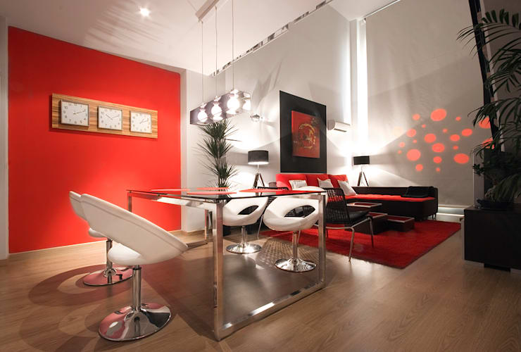 loft en madrid: Comedores de estilo moderno de Javier Zamorano Cruz