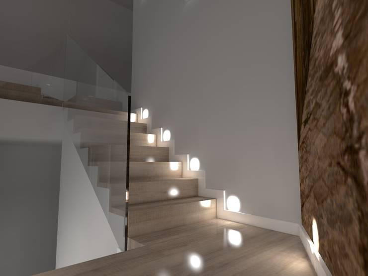 Pasillos y recibidores de estilo  por ap. studio architektoniczne Aurelia Palczewska-Dreszler