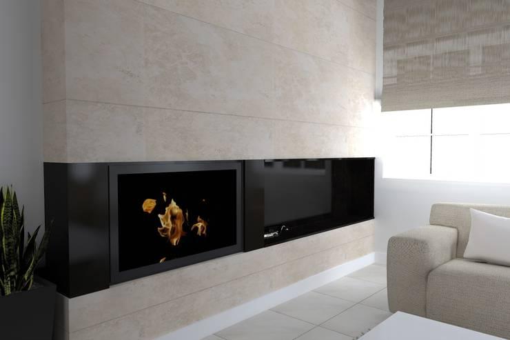rezydencja koło Iławy: styl , w kategorii Salon zaprojektowany przez ap. studio architektoniczne Aurelia Palczewska-Dreszler,