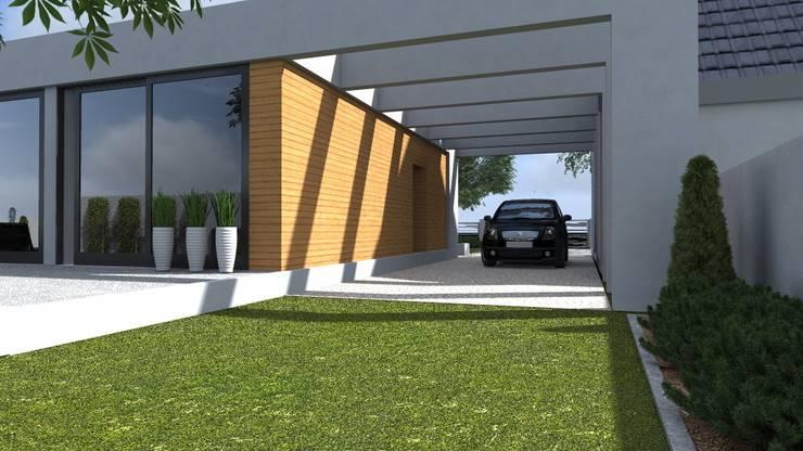 nowoczesny ogród w Olsztynie: styl , w kategorii Domy zaprojektowany przez ap. studio architektoniczne Aurelia Palczewska-Dreszler