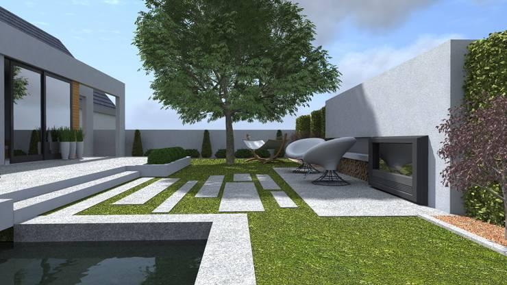 nowoczesny ogród w Olsztynie: styl , w kategorii Ogród zaprojektowany przez ap. studio architektoniczne Aurelia Palczewska-Dreszler