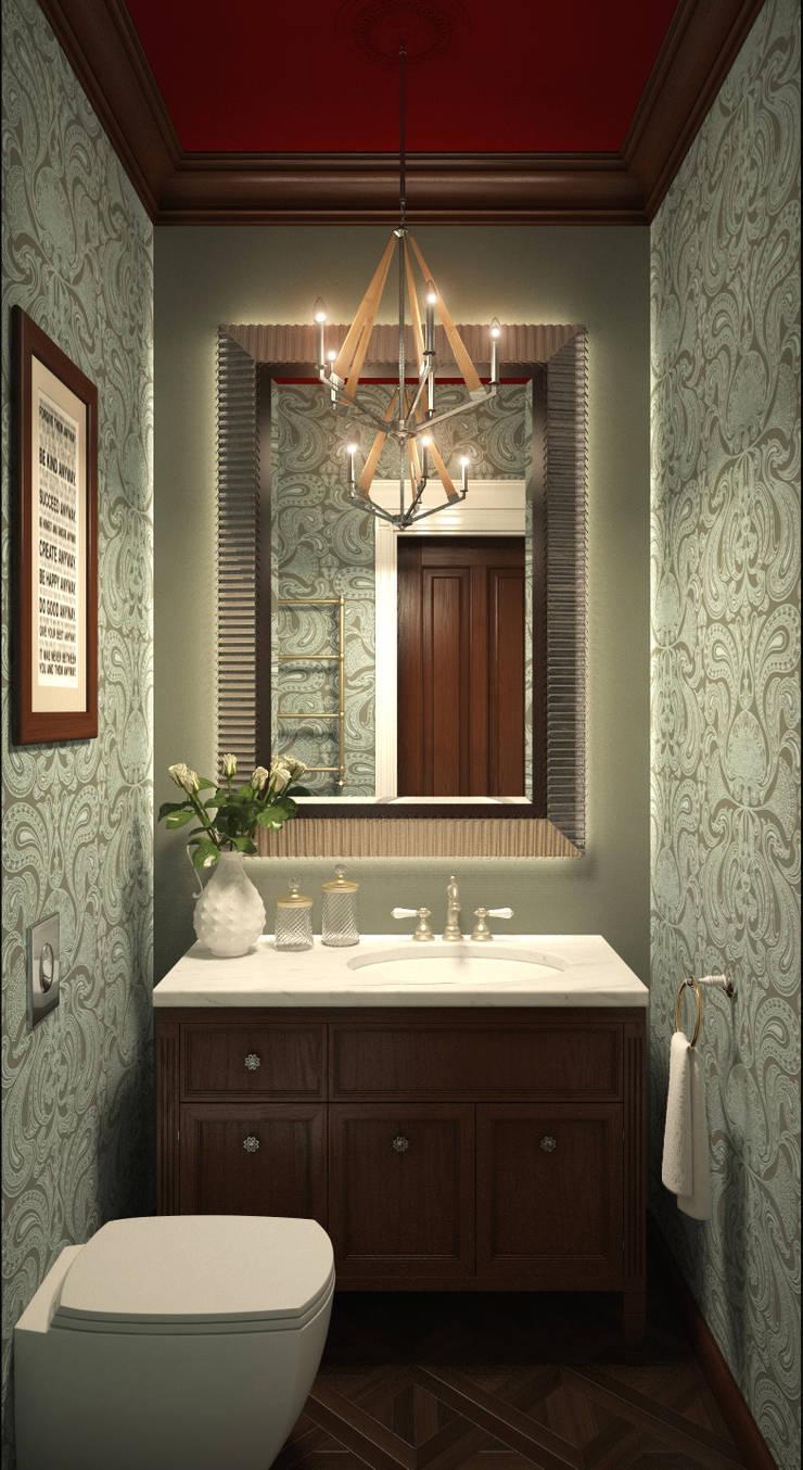 Квартира в стиле эклеткики: Ванные комнаты в . Автор – COUTURE INTERIORS
