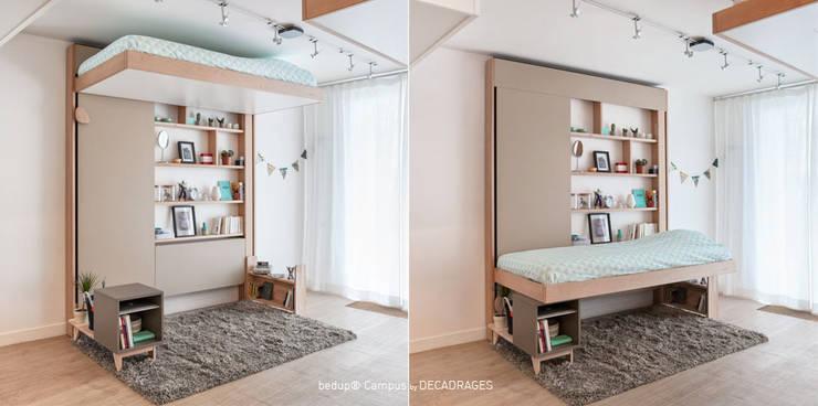 Dormitorios de estilo  por DECADRAGES