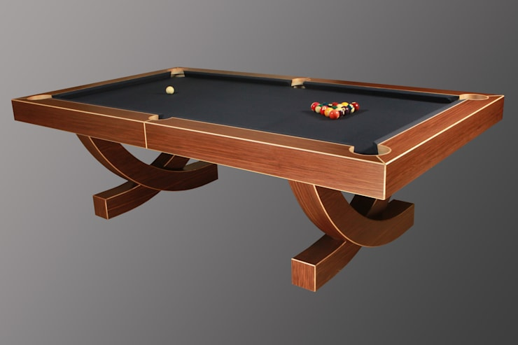 'The Arc', 8 ft American Pool Table.:  Living room by Designer Billiards