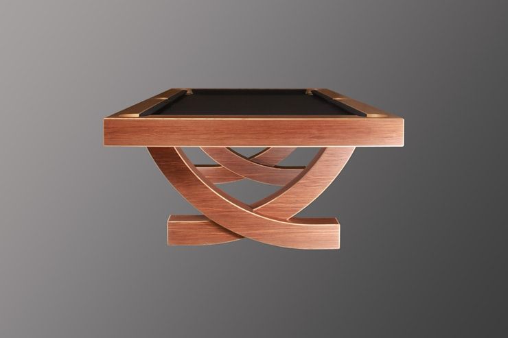 'The Arc', 8 ft American Pool Table.:  Multimedia room by Designer Billiards