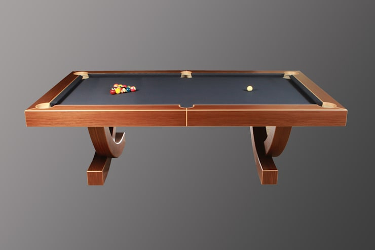 'The Arc', 8 ft American Pool Table.:  Dining room by Designer Billiards