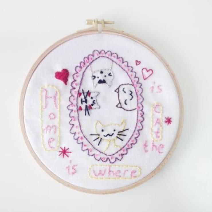 Pıneapple Inc. – Kedi Desenli Kasnak Pano:  tarz Ev İçi