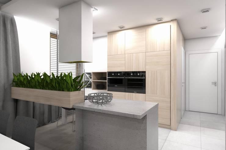 Projekt domu jednorodzinnego wykonany dla A2.Studio Pracownia Architektury: styl , w kategorii Kuchnia zaprojektowany przez BAGUA Pracownia Architektury Wnętrz,