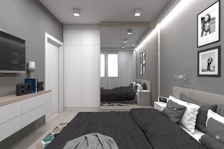 Projekt domu jednorodzinnego wykonany dla A2.Studio Pracownia Architektury: styl , w kategorii Sypialnia zaprojektowany przez BAGUA Pracownia Architektury Wnętrz
