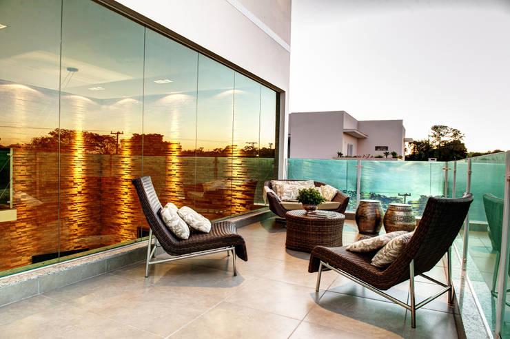 Projekty,  Taras zaprojektowane przez Renato Lincoln - Studio de Arquitetura
